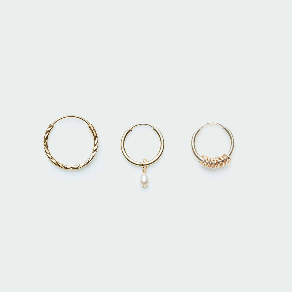 Load image into Gallery viewer, Perfect basic earring set gold