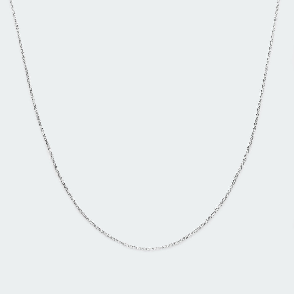 Basic twist chain necklace silver