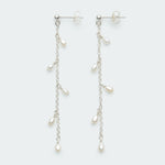 Dangle Pearls stud silver