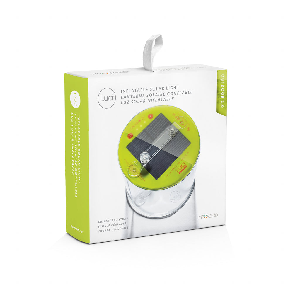 Luci Outdoor Pro Lux gonflable Solaire Camping Lanterne avec 2-way Port USB