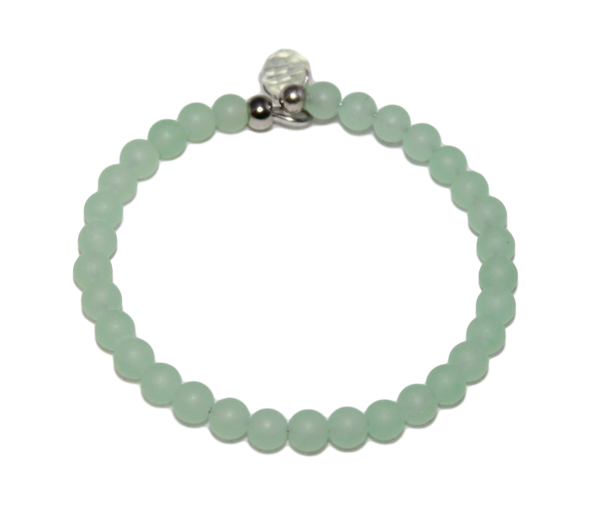 DetectSun Light Matte Green Jade Bracelet