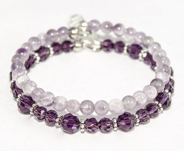 DetectSun Natural Amethyst Bangle - M. Mills Co