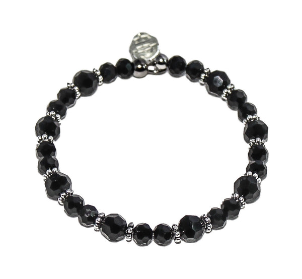 DetectSun Crystal Black Bangle Bracelet