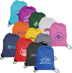 promotional drawstring bags, printed draw string bags, branded drawstring bags, drawstring bags printed