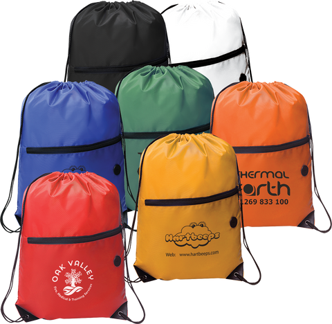 - Drawstring Bags With Zip - Unprinted sample  - PG Promotional Items