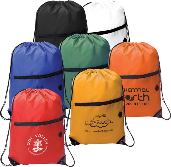 Drawstring Bags With Zip