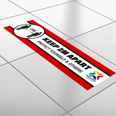 printed floor stickers, printed floor graphics rectangle