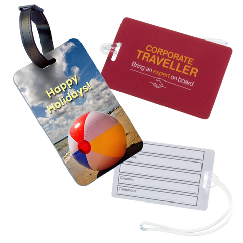 - Plastic Luggage Tags - Unprinted sample  - PG Promotional Items