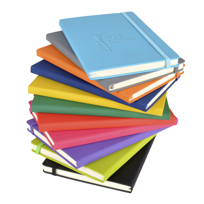 Notepads & Paper - A5 Soft PU Notebooks - Debossed  - PG Promotional Items