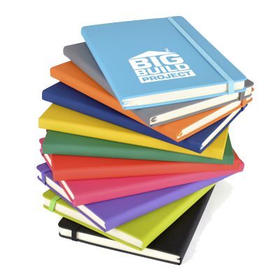 - A5 Soft PU Notebooks - Debossed - Unprinted sample  - PG Promotional Items