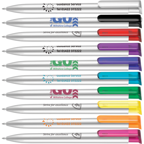 Low cost promotional pens - Absolute Argent Pens - 3 Day Express  - PG Promotional Items