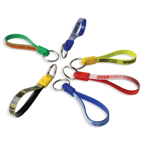 Coloured Adloop Key Rings