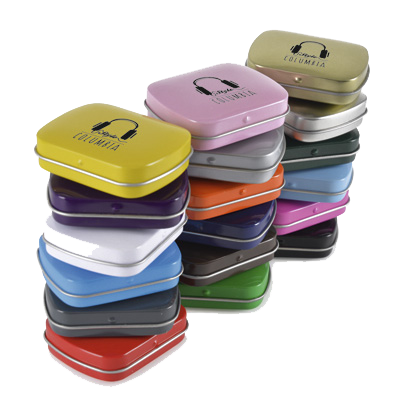 Sweets & Mints - Coloured Mint Tins  - PG Promotional Items
