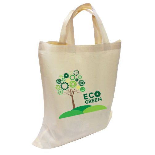 100% Natural Cotton Totes Short Handles