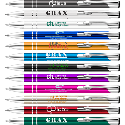 promotional electra ballpens, printed electra ball pens, promotional electra pens printed