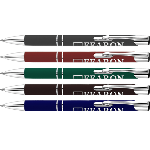 Metal Pens - Electra Soft Touch Ballpens DK  - PG Promotional Items