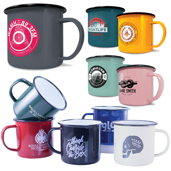 Printed Enamel Mugs 10oz - Unprinted sample