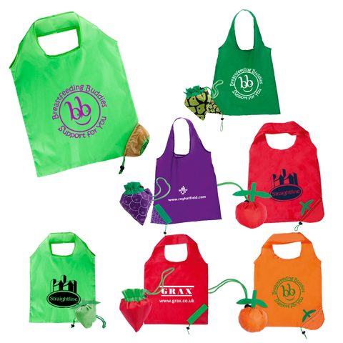 Totes & Shoppers - Foldable Fruit Tote Bags  - PG Promotional Items