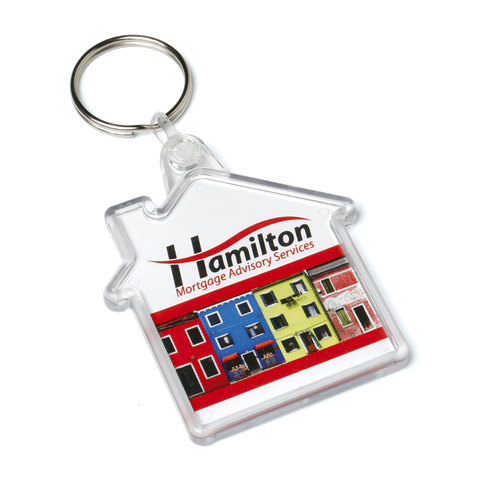 - House Keyrings - Unprinted sample  - PG Promotional Items
