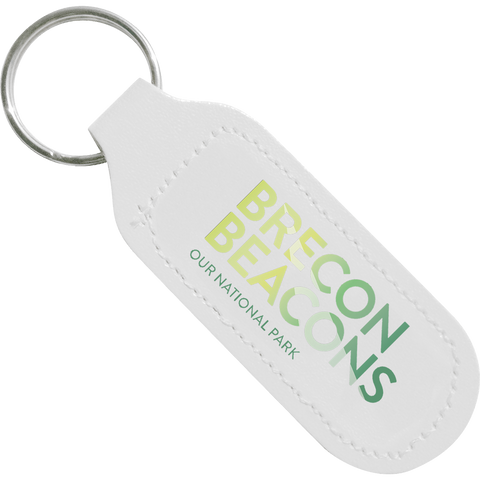 Promotional Leather Keyrings - Digital Leather Keyrings - Oblong  - PG Promotional Items