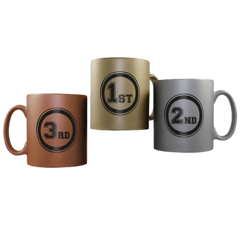Ceramic Mugs - Matt Medal Mugs  - PG Promotional Items