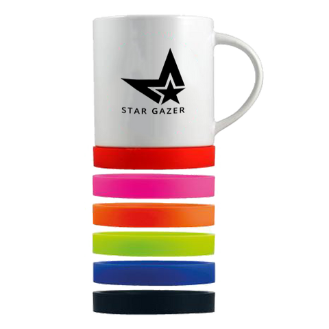 promotional non slip mugs, printed non slip mugs, mugs with silicone bottom, Paris mugs printed