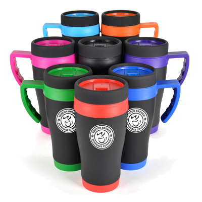 - Oregan Black Thermo Mugs - Unprinted sample  - PG Promotional Items