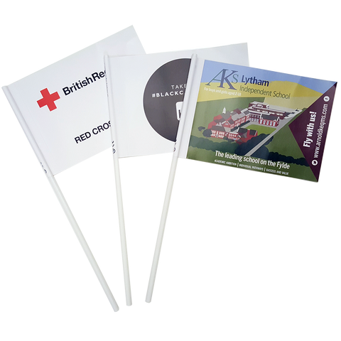 - Printed Paper Flags - Unprinted sample  - PG Promotional Items