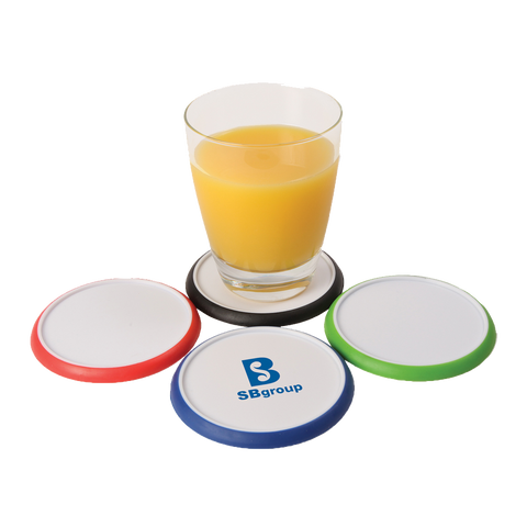Coasters - Rubber Trim Coasters  - PG Promotional Items