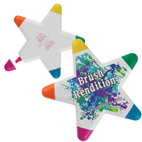 - Star Highlighters - Unprinted sample  - PG Promotional Items