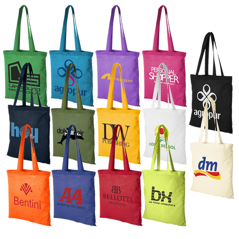 50 printed tote bags, 50 promotional tote bags, promotional tote bags printed with logo