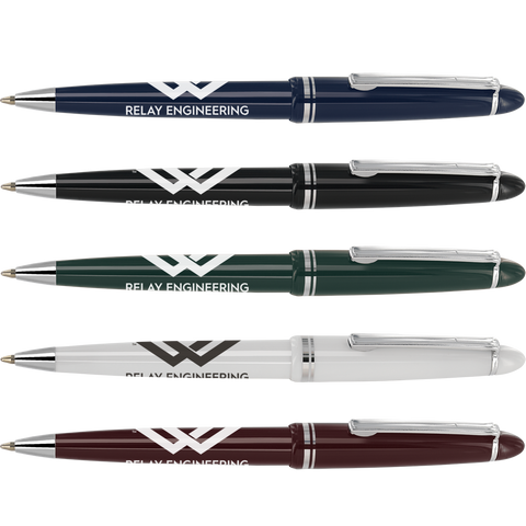 promotional alpine chrome pens, printed alpine chrome pens, promotional solar pens