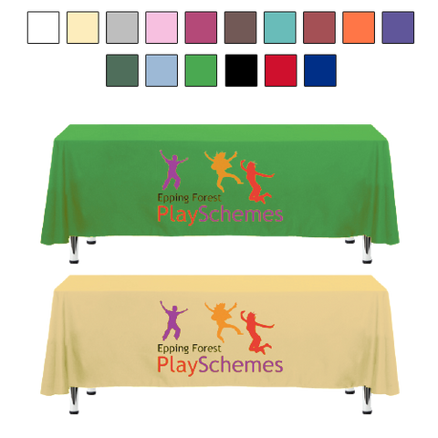 - 7.5ft Tablecloths - Unprinted sample  - PG Promotional Items