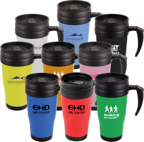 promotional travel mugs, promotional thermo mugs, promotional thermos mugs, travel mugs printed