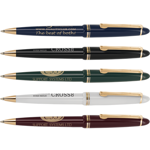 promotional alpine pens, printed alpine gold pens, promotional wedding pens