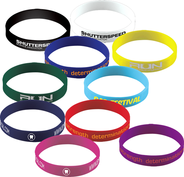 Silicone Printed Wristbands (1 colour)