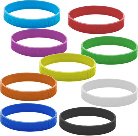 - Debossed Wristbands - Unprinted sample  - PG Promotional Items