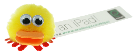 duck advertising rascals, printed message bugs, duck promotional items