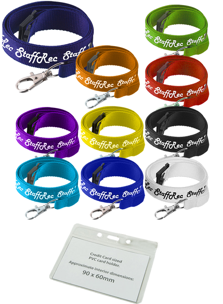 20mm Printed Lanyards with Wallets