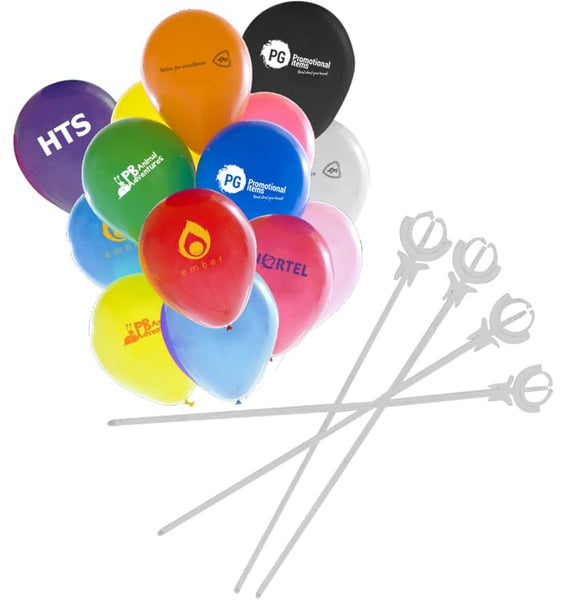 "10"" Balloons & Sticks Package"
