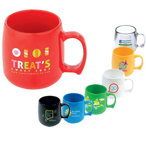 - Classic Plastic Mugs - Unprinted sample  - PG Promotional Items