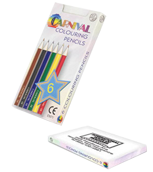 250 x Printed Half Size Pencil Colouring Packs – PG Promotional Items