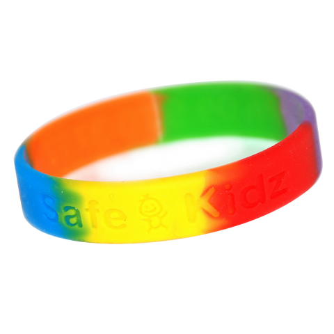 - Multicoloured Debossed Wristbands - Unprinted sample  - PG Promotional Items