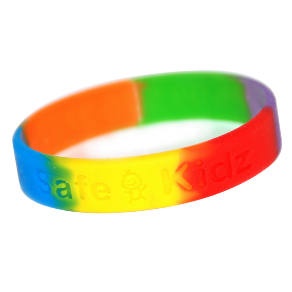Multicoloured Debossed Wristbands