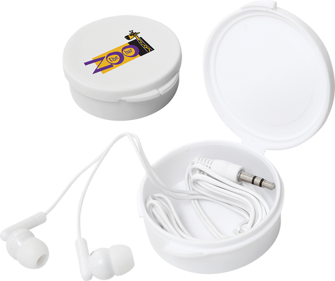 promotional earphones, printed earphones, promotional items for students