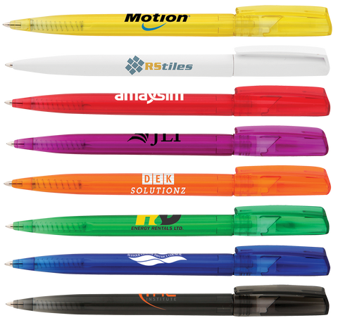 Promotional twist pens, promotoinal pens, logo pens, cheap printed pens uk