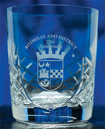 Heavy Crystal Whisky Glasses - Unprinted sample