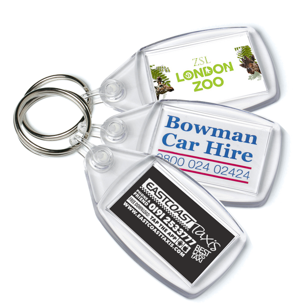 Value Keyrings - Unprinted sample