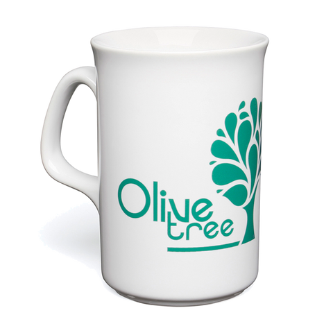 promotional lincoln mugs, slim line promotional mugs, printed lincoln mugs with own logo