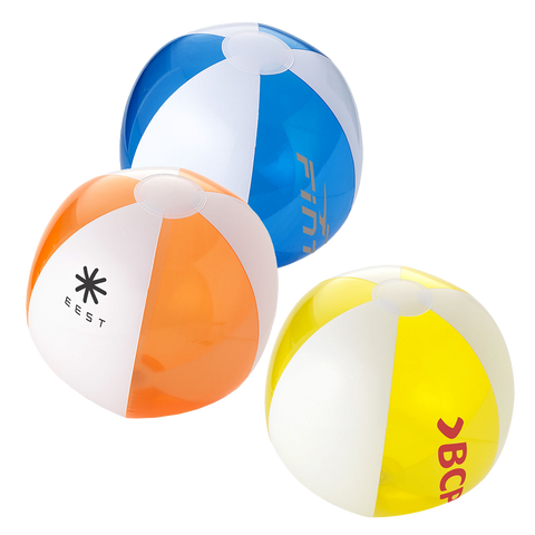 Travel - Mini Beach Balls - Solid / Trans  - PG Promotional Items